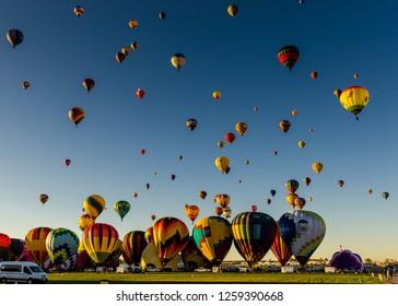 Albuquerque New Mexico USA, 10/10/2017 Albuquergue Balloon Festival Mass Ascension