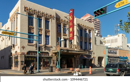 Albuquerque, New Mexico, USA - April 14, 2018: Historic Kimo Theatre at Central and 5th on Route 66, Downtown Albuquerque, New Mexico. National Register of Historic Places.