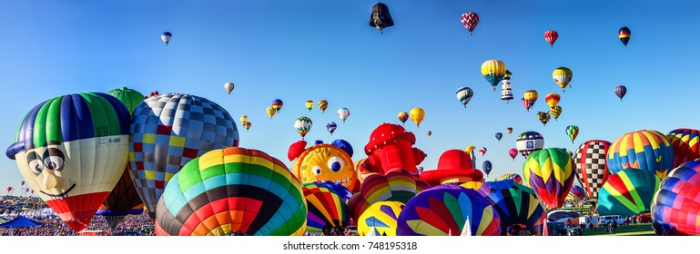 ALBUQUERQUE, NM - OCTOBER 06, 2013: Hot Air Baloon Fiesta in Albuquerque, New Mexico