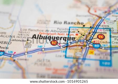 Albukirky Usa Map on