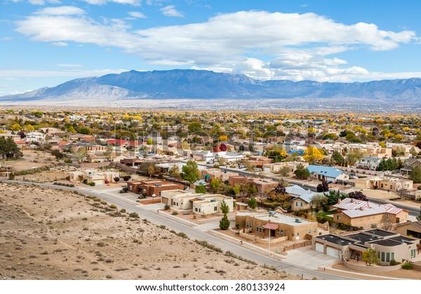 Albuquerque residential suburbs, New Mexico