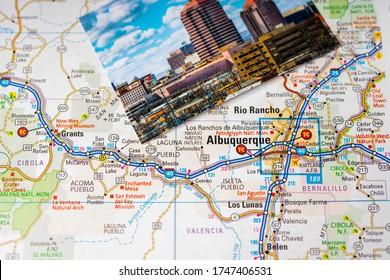 Albuquerque USA travel map background