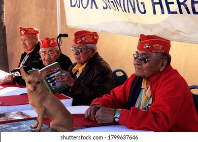 Albuquerque/USA-Oct 13,2012:Navajo Code Talkers-Robert Walley,Alfred Newman,Bill Toledo,Jack Jones - part of over 400 Talkers who helped us defeat the Japanese in the Pacific during WWII-all now gone.
