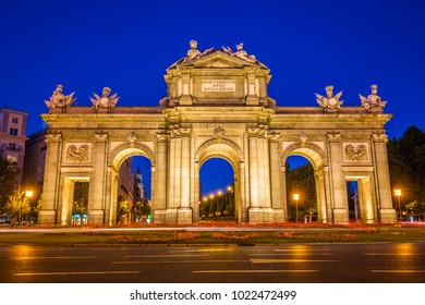 The Alcala Door (Puerta de Alcala) is a one of the ancient doors of the city of Madrid, Spain