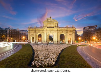 The Alcala Door (Puerta de Alcala) is a one of the Madrid ancient doors of the city of Madrid, Spain. It was the entrance of people coming from France, Aragon, and Catalunia.