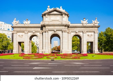 Alcala Gate or Puerta de Alcala is a monument in the Plaza de la Independencia in Madrid, Spain. Madrid is the capital of Spain.