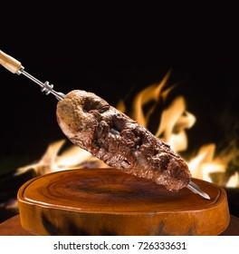 Alcatra, traditional Brazilian barbecue.