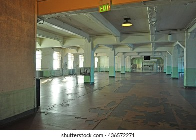 Alcatraz Island: the Dining Hall of the former federal prison on June 13, 2010. The Dining hall, where the prisoners ate, is located in the Main Cell House on Alcatraz Island