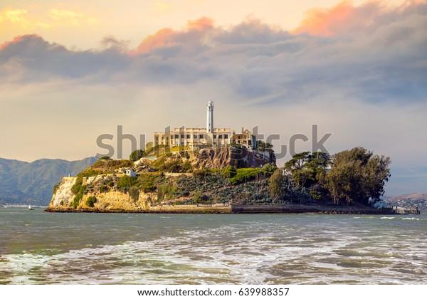 米国サンフランシスコのアルカトラズ島。