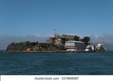 Alcatraz Island  San Francisco view from a boat