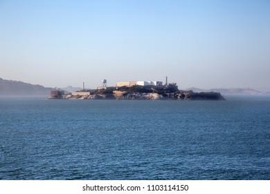 Alcatraz Jail from the coast