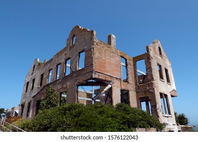 Alcatraz warden house ruins San Francisco