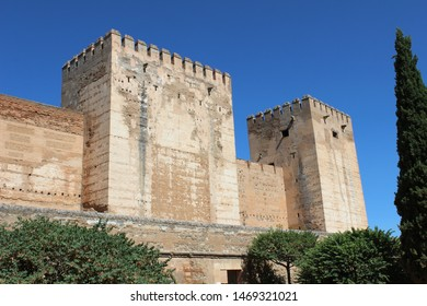 Alcazaba of the Alhambra in Granada. Fortified military enclosure. The first Arab constructions date from the Caliphate era.