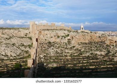 Alcazaba fortress in Almería, Spain