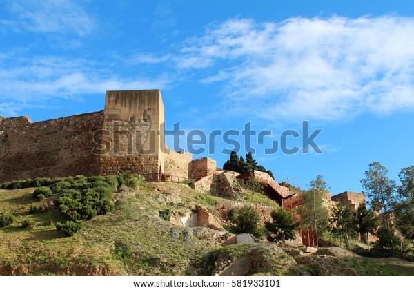 Alcazaba in Malaga, Andalusia, Spain. Popular touristic european destination.