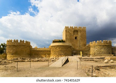 Alcazaba of Almería, old fortified complex in Andalusia, southern Spain