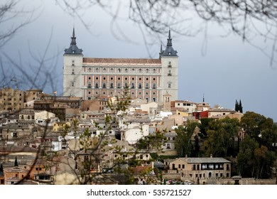 The Alcazar, militar building of Toledo, Spain, A dominant building, by General Castaños, a coup, who resisted the siege of the Constitutionalist troops.