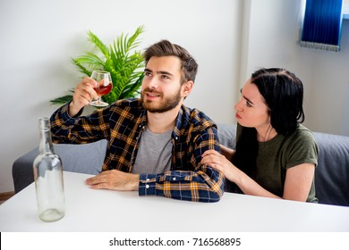 Alcohol addicted husband