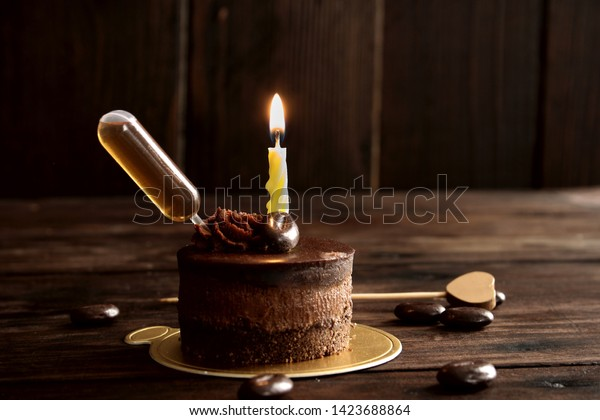 Amazing Alcohol Infused Birthday Cake Mini Chocolate Stock Photo Edit Now Funny Birthday Cards Online Elaedamsfinfo