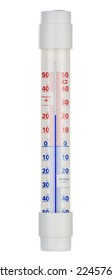 Alcohol thermometer isolated on white background.