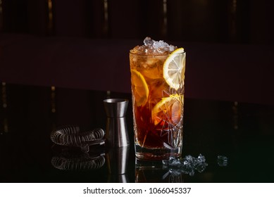 alcoholic cocktail with rum