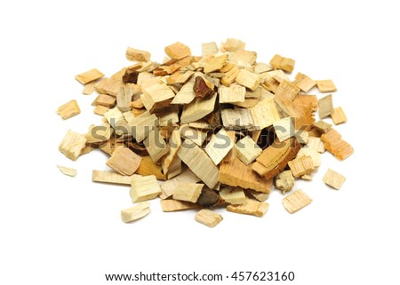 Alder Wood Chips Smoking On White Stock Photo Edit Now 457623160