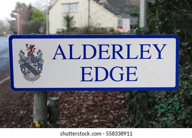Alderley Edge village sign in UK