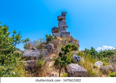 Aleksandria Troas ancient city view in Canakkale Province of Turkey