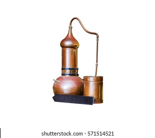 Alembic Copper - Distillation apparatus employed for the distillation of alcohol, essential oils and moonshine.