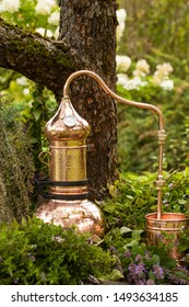 Alembic is a distilling apparatus of Arabic origin which may be used to distill essential oils and a variety of alcoholic beverages.