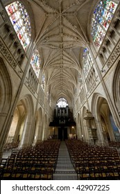 Alencon (Orne, Basse Normandie, France) - Interior of the Notre Dame church