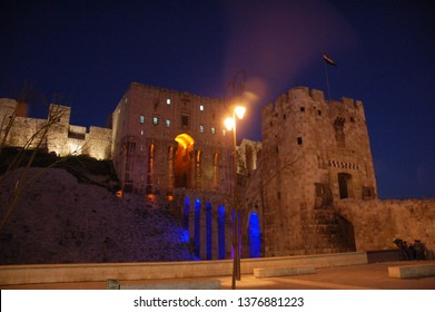 The Aleppo citadel by night