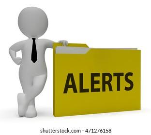 Alerts Folder 3d Rendering Holding Schedule Reminders