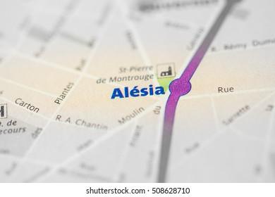 Alesia Station. 4th Line. Paris. France