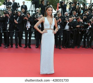 "Alessandra Ambrosio attending the ""The Unkown Girl (La Fille Inconnue) premiere during the 69th Annual Cannes Film Festival, held at palais du festival, on 18 May 2016 in Cannes France."