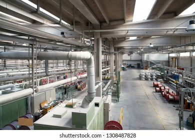 ALESSANDRIA, ITALY - July 8, 2017 - Italian company specialized in production of electrical cables and power cords with a complete vertical integrated processes.