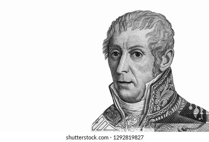 Alessandro Volta (1745-1827) on 10000 Lire Banknote from Italy. Italian physicist best known for the development of the first electric cell in 1800.Closeup Collection