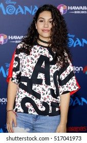 Alessia Cara at the AFI FEST 2016 Premiere of 'Moana' held at the El Capitan Theatre in Hollywood, USA on November 14, 2016.