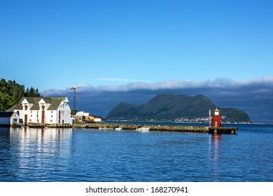 Alesund lighthouse, Norway seascape