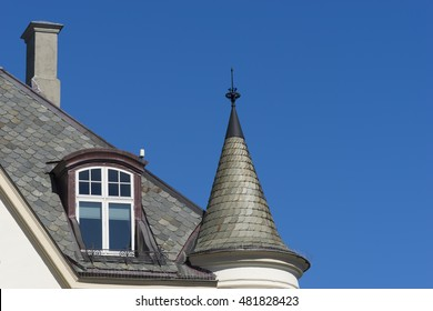 Alesund, Norway - Detail of a Typical Art Nouveau House Facade