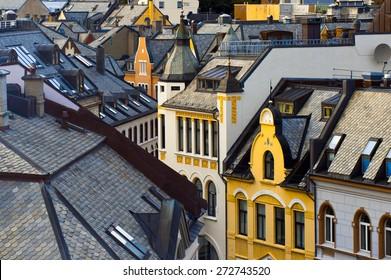 Alesund roofs, Norway