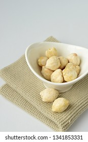 Aleurites moluccanus, the candlenut or known as Kemiri, spice that used for Indonesian cuisine