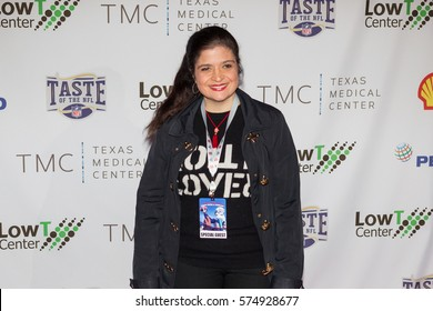 Alex Guarnaschelli attends the 26th Annual Taste of the NFL's Party with a Purpose at the University of Houston on February 4th, 2017 - USA
