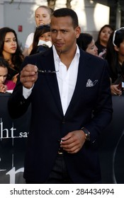 Alex Rodriguez aka A-Rod at the Los Angeles premiere of 'The Twilight Saga: Eclipse' held at the Nokia Theatre L.A. Live in Los Angeles on June 24, 2010.