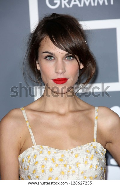 Alexa Chung at the 55th Annual GRAMMY Awards, Staples Center, Los Angeles, CA 02-10-13