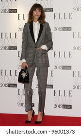 Alexa Chung arriving for the Elle Style Awards 2012 at the Savoy Hotel, London. 13/02/2012 Picture by: Simon Burchell / Featureflash