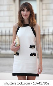 Alexa Chung arriving for the Royal Academy of Arts Summer Exhibition Party, at the Royal Academy of Arts, London. 30/05/2012 Picture by: Alexandra Glen / Featureflash