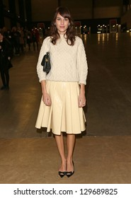 Alexa Chung at J.W Anderson, during London Fashion Week, A/W 2013, London, England. 18/02/2013 Picture by: Henry Harris