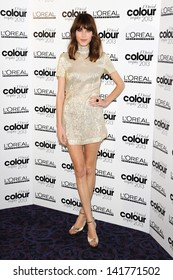 Alexa Chung at The L'Oreal Colour Trophy grand final 2013 held at the Grosvenor House hotel, London. 03/02/2013
