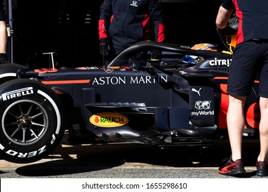 Alexander Albon, Thailand competes for Aston Martin Red Bull Racing at the F1 Winter Testing for the 2020 season at the Circuit de Barcelona-Catalunya, Spain